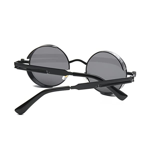 SamuRita Lennon Gothic Steampunk Sunglasses Black Yellow Tinted Shades 5