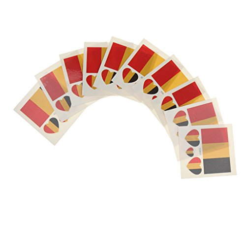 MagiDeal 2016 Olympic Games Countries 10Pcs Flag Tattoo Temporary Body Fans Face Stickers - Belgium, One - Online Belgium