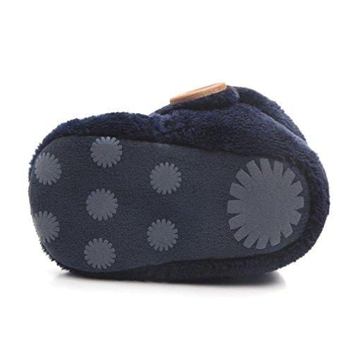 Baby Stiefel, BZLine® Baby Soft Baby Schuhe runde Zehe flache weiche Pantoffel Schuhe Stiefel Blau