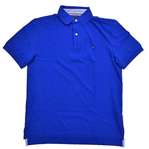 Tommy Hilfiger Mens Mesh Classic Fit Polo Shirt (XL, Royal Blue) (Blue Classic Mesh Polo)