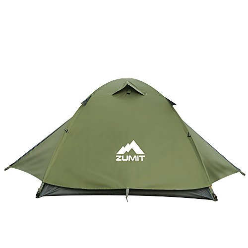 ZUMIT 2-3 Person Tent for Family Camping Waterproof Dome Instant Cabin Backpacking - Tent Dome Cabin Family