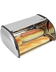 SanZHONGsd Bröd förvaringsbox, brödlåda ljus rostfritt stål kaklåda förvaring behållare hållare kök förvaringsmaterial