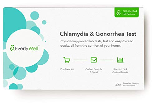 Everlywell Chlamydia and Gonorrhea Test - at Home - CLIA-Certified Adult STD Test - Discreet