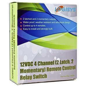 Logisys Corp. 12VDC 4-Channel 2 Latch, 2 Momentary Remote Control (RM09)