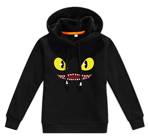 XCOSER Cute Kids Thick Fleece Hoodie Pullover Jacket Costume S