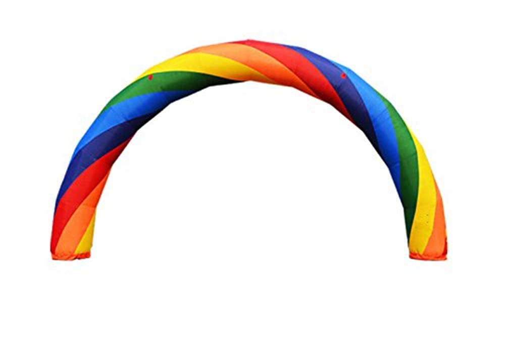 JIAWANSHUN Inflatable Colorful Arch 210D Oxford Fabric with PU Coated for Event Entrance Rental Advertisement 6M/8M/10M/12M/15M Optional (15M)