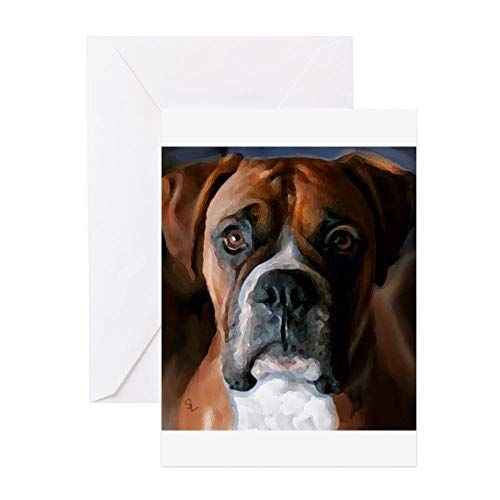 CafePress Adoring Boxer Dog Greeting Card, Note Card, Birthday Card, Blank Inside Matte Boxer Dog Note Card