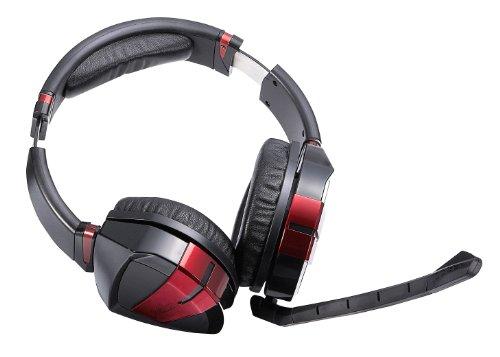 배 릭《스》 AX-2000B,gaming 헤드폰 - 떼내어 가능 케이블 & 마이크 부착 - 2m뜨기 오 보 케이블 -골드 플레이트 오디오 커넥터 - 9단계 조절 가능한 소프트 패드 부착 헤드 밴드 - 50mm스테레오 서라운드 스피커 채용