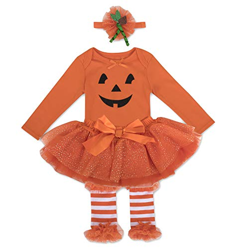 Orange Tutu With Headband - Halloween Baby Girl Outfit Tutu Dress