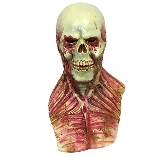 Culturemart Realistic Latex Scary Devil Zombie Mask Horrible Monster Skull Full Face Masks Halloween Party Cosplay Masks Props Costumes