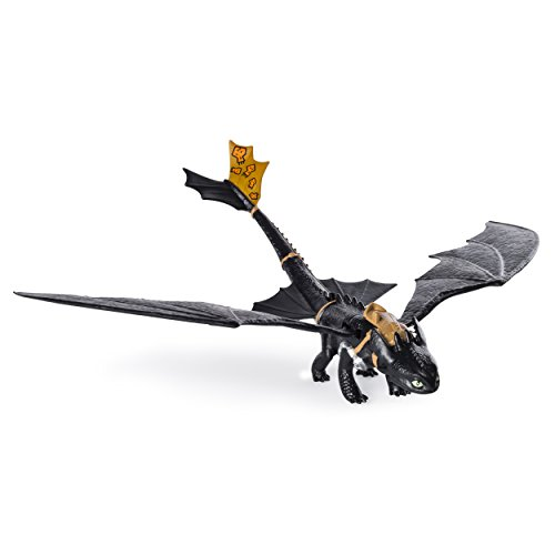 Action Figure Race - Dreamworks Dragons: Race to the Edge - Action Dragon Figure - Wing Flapping Toothless