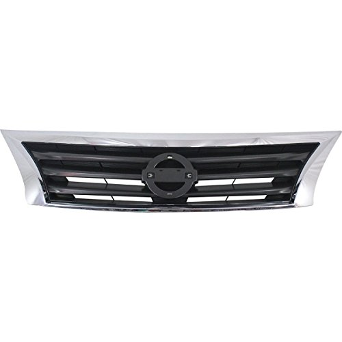 - New Front Grille For 2013-2015 Nissan Altima Sedan Chrome Shell With Black Insert NI1200250