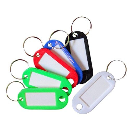 ted Plastic Key Tags Rings ID Luggage Name Label Car Keyring (Custom Boxing Photo Charm)