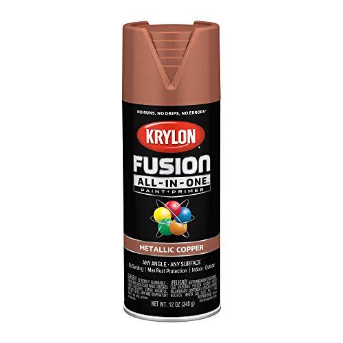 Krylon K02768007 Fusion All-in-One Spray Paint, Copper