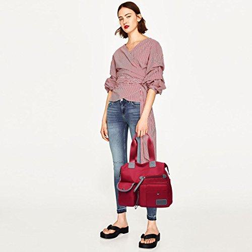 Casual NICOLE Shoulder Travel Bag Bag Waterproof Bag Purple Large Tote Polyester amp;DORIS Woman Bag Crossbody Capacity Red 5RxprTxw
