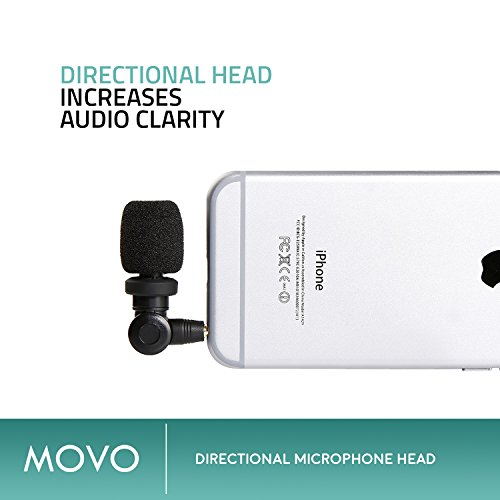 Saramonic SmartMic Microphone with Lightning Dongle Clip for iPhone 7, iPhone 7 Plus, iPhone 8, iPhone X, and other iOS Devices (Black) by Movo (Image #3)
