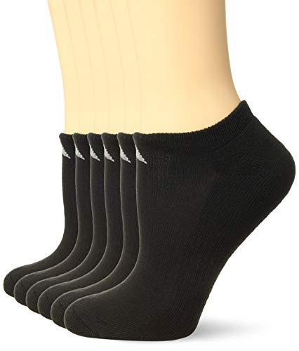 adidas Women's Athletic No Show Socks (6-Pack), Black/Aluminum 2, Shoe Size 5-10 (Adidas No Show Socks Women)