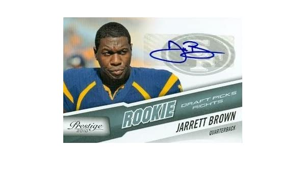 46f75f324 Jarrett Brown autographed Football Card (West Virginia) 2010 Panini  Prestige Rookie  249 - Football Autographed Rookie Cards at Amazon s Sports  Collectibles ...