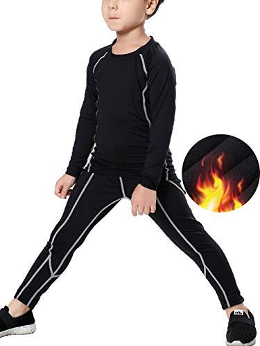 LANBAOSI Kids Thermal Underwear Set Athletic Shirt Pants for Boys Girls 2PCS