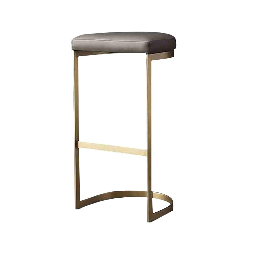 gold 75CM RFQ Iron Bar Stool, Counter Breakfast Bar Chair Bar Stool, Bar Chair, Counter Chair, Restaurant High Stools, Iron Lounge Chair, Sponge Cushion Height 65 70 75cm Suitable for 95-110cm Bar Counter gold