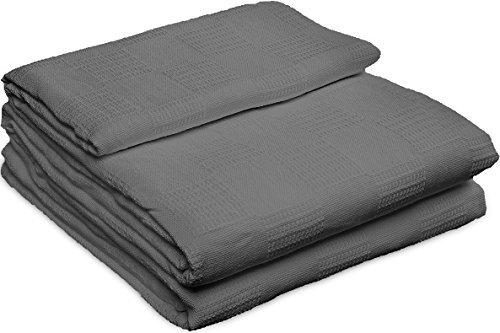 Utopia Bedding Manta de algodón - 100% algodón Tejido Premium - Manta y edredón Transpirables para la Cama y el sofá/sofá (Gris) (Reina): Amazon.es: Hogar