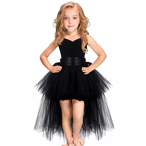 Long Black Skirt Halloween Costumes - Tsyllyp Girls Tutu Dress Dance Party