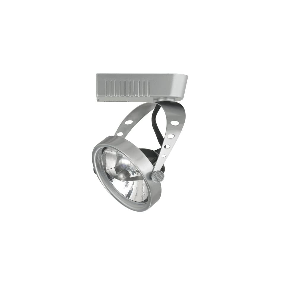 """Cal Lighting JT 943EX18 BS Brushed Steel 1 Light 50 Watt Round Track Head with 6"""" Extension Rod for JT Track Systems"""