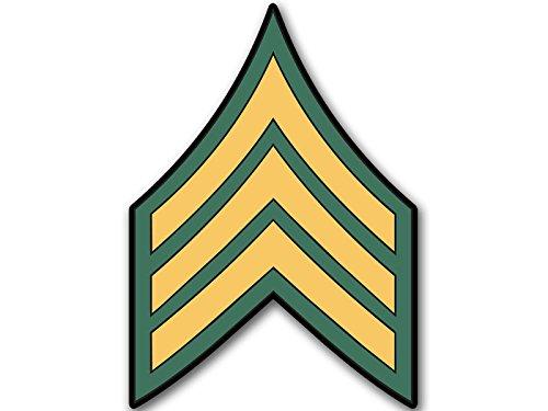 Rank Vinyl Sticker - American Vinyl US Army Rank SERGEANT Chevron Shaped Sticker (military decal sgt)
