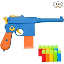 Toy Gun,Classic Mauser c96 Colorful Toy Pistols with Set of Soft Bulles, safe toy guns and props 1:1 Replica of a Mauser C96 WWII