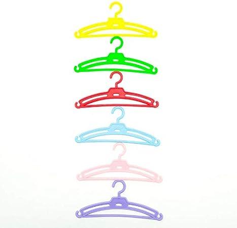 Folk Artesanía Lote 12 Perchas para Nancy Famosa en Color Lila, Rosa, Amarillo y Verde. Válido para Sintra, Noa, Barbie