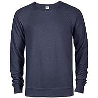 Casual Garb Men's Fitted Lightweight Raglan Crew Neck Sweater Sweatshirts French Terry Crewneck Sweatshirts for Men