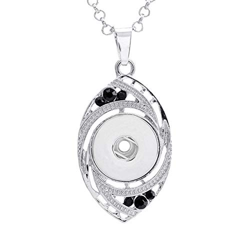 1pc Crystal Alloy Pendant for Fit Noosa Necklace Snap Chunk Button AF0M