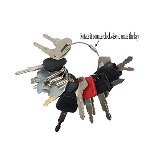 - 21 Keys Heavy Equipment Key Set/Construction Ignition Keys Set for Massey Ferguson Bobcat Hitachi Hyundai Case New Holland