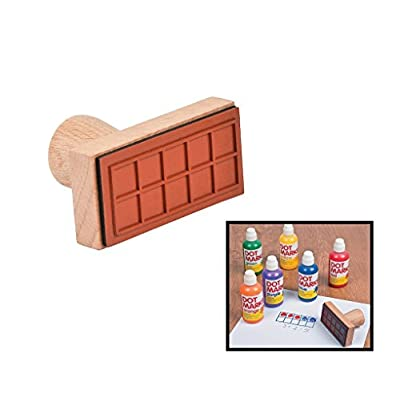 Ten Frame Stamp - 1 Piece - Educational And Learning Activities For Kids: Toys & Games
