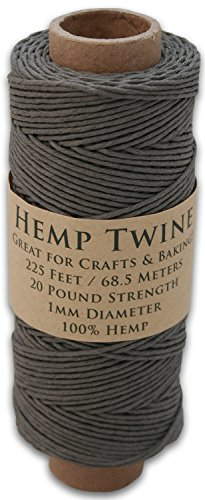 225 Foot Spool of 1mm 100% Hemp Twine Bead Cord In Your Choice of Color (Gray) supplier