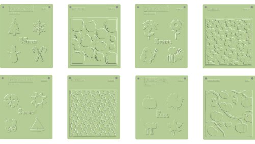 Fiskars 01-000210 Embossing Plate Set, Seasonal 4-Pack - Fiskars Embossing Plates