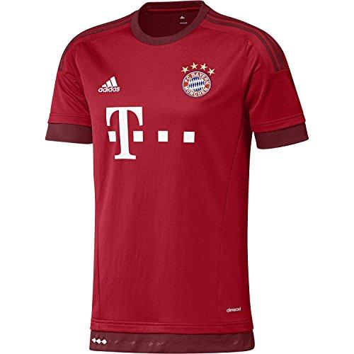 形拍手する論争的Adidas Bayern Munich Home Soccer Jersey 2015-16 -YOUTH/サッカーユニフォーム FC バイエルン ミュンヘン ホーム用 背番号なし ジュニア向け