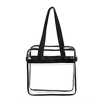 Amazon.com   BAGS for LESS Clear Tote Stadium Approved with Handle and  Zipper - 12x12x6   Travel Totes fb27e30c61