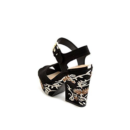 Guess - Sandalias de vestir de Piel para mujer negro negro