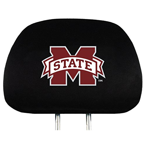 NCAA Mississippi State Bulldogs Head Rest Cover, 2-Pack
