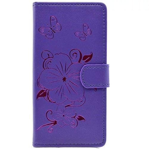 EKINHUI Case Cover Apple IPhone Fall, Blumen-Schmetterlings-Vergoldung-Muster-Fall-Mappen-Standplatz-Fall-horizontaler Schlag-Fall PU-lederner Kasten TPU Abdeckung für Apple IPhone 7 4,7 Zoll ( Color