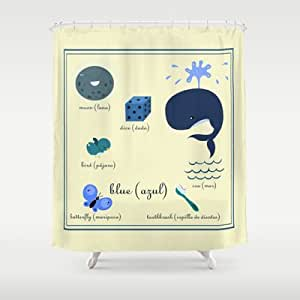 Society6 - Colors: Blue (los Colores: Azul) Shower Curtain by Alapapaju