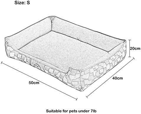 犬猫ソファベッド、 取り外し可能な洗えるカバー/ 4サイズで猫犬ソファクッションベッド//猫と小中大型犬用/ブルー (Size : XL)