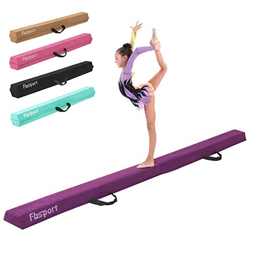 FBSPORT 8ft Balance Beam: Folding Floor Gymnastics Equipment for Kids Adults,Non Slip Rubber Base, Gymnastics Beam for Training, Practice, Physical Therapy and Professional Home Training (Gymnastic Mat And Beam)