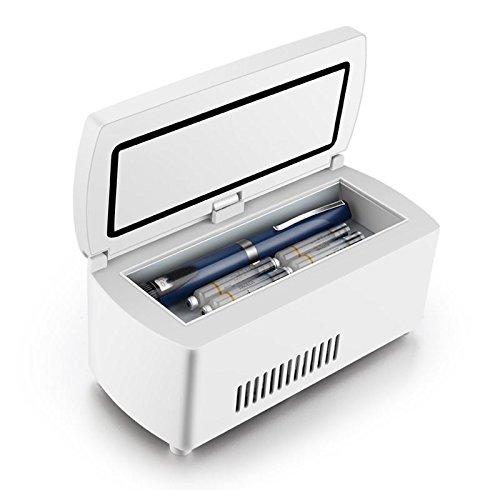 CGOLDENWALL Caja de aislamiento de 7 horas para refrigeración de 2 - 8 ℃, termostato, refrigerador portátil para coche o viaje en casa o coche de menos de ...