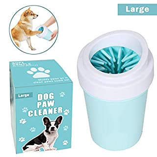 Dog Paw Cleaner for Dogs Large/Petite Paw Washer Easy to Use & Clean Portable Dog Paw Cleaner Cup Dog Foot Washer with Silicone Washers Nice Packing