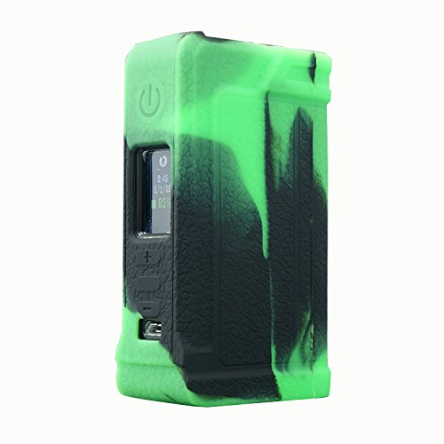 Rayley Modshield Protective Silicone Case Skin Sleeves Cover For Lost Vape Paranormal DNA 75C Box Mod Evolv DNA75-C Chipset Box Mod (Black Green) by Rayley