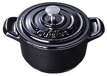 LA CUISINE 10cm mini cocotte Black