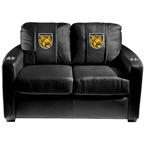 XZipit College Silver Loveseat with Colorado College Tigers Logo Panel, Black