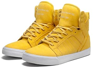 Skateboard shoes SUPRA Skytop Chad Muska 001 Yellow   White 1a32ec6fa